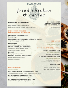 Fried Chicken & caviar dinner