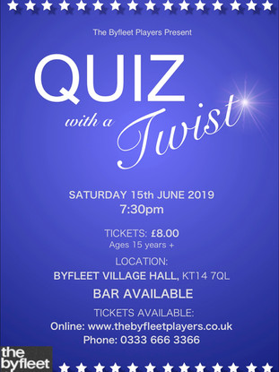 Quiz with a Twist poster 2019