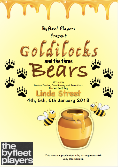 Goldilocks and the Three Bears Programme Front Cover 2018
