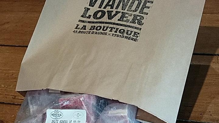 Sauté d'agneau 50/70 GR surgelé IQF
