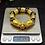 Thumbnail: 18K Gold Dragon Obsidian Sutra Wealth Beaded Men Bracelet