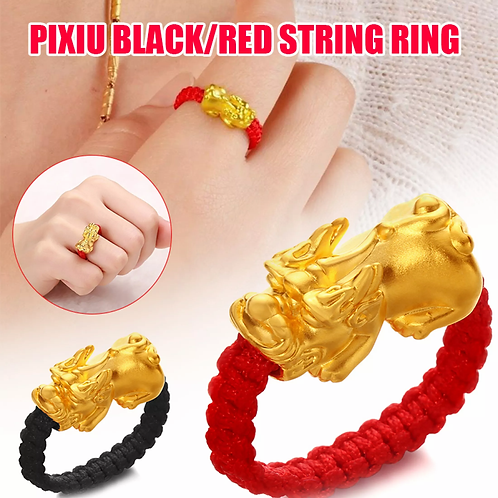 Ring Golden Amulet Jewelry Ring Unisex 1pcs gold-plated Pixiu