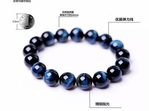 Blue Tiger Eye Stone Beaded Bracelet for Women