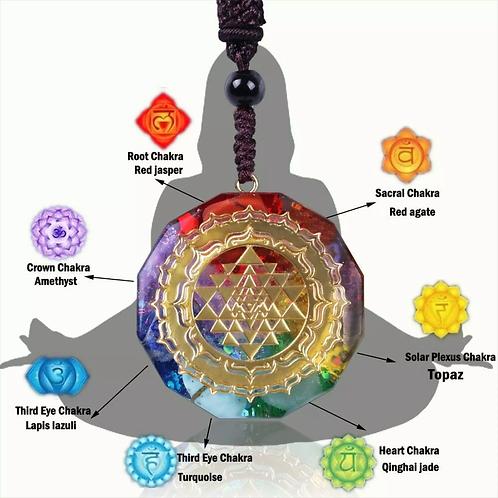 Natural Crystal Chakra Pendant Necklace