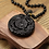 Thumbnail: Carved Dragon &  Phoenix Lucky Pendant Necklace