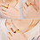 Thumbnail: Ring Golden Amulet Jewelry Ring Unisex 1pcs gold-plated Pixiu