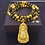 Thumbnail: 18K Gold Plated Buddhist Guanyin Beads Pendant Necklace