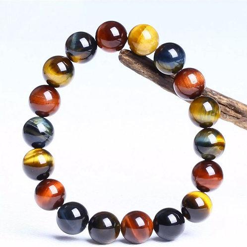 Natural Tricolor Tiger Eye Bracelet