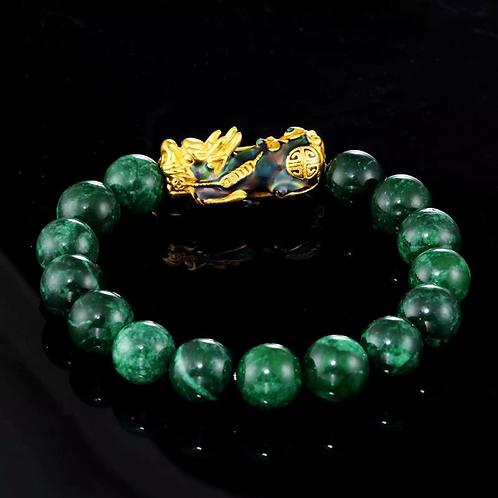 Green Agate Beads Temperature Change Color Bracelets