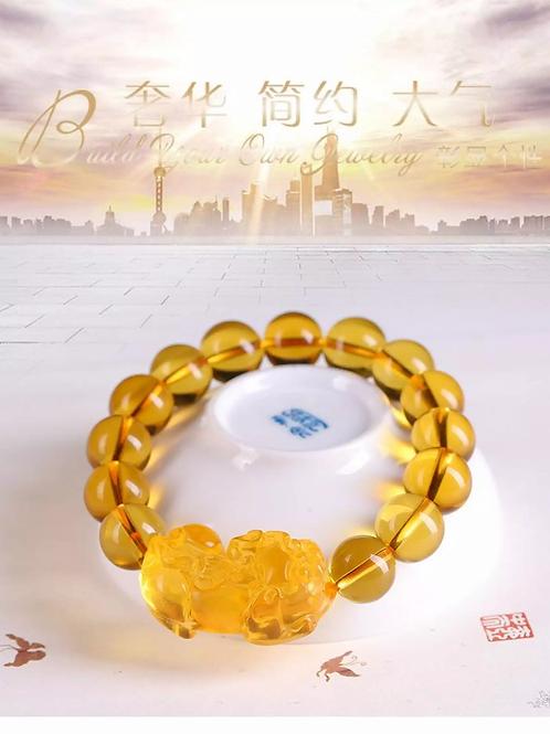 Natural citrine pixiu bracelet