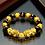 Thumbnail: Natural Stone Black, Gold Pixiu Bracelet