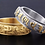 Thumbnail: Titanium Stainless Steel Buddhist Scriptures Rotational Six Word Mantra