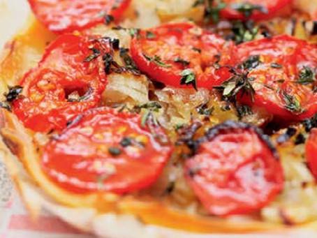 Tarte à la tomate, pâte maison