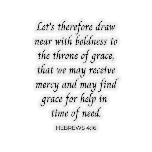 Throne of Grace Sticker