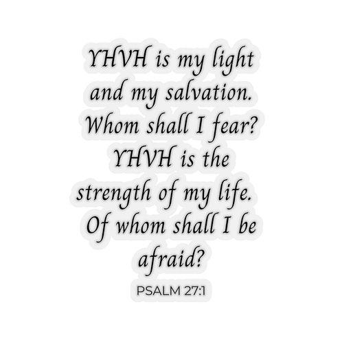 YHVH is My Light Sticker