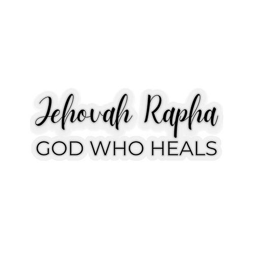 Name of God Sticker: Jehovah Rapha, God Who Heals