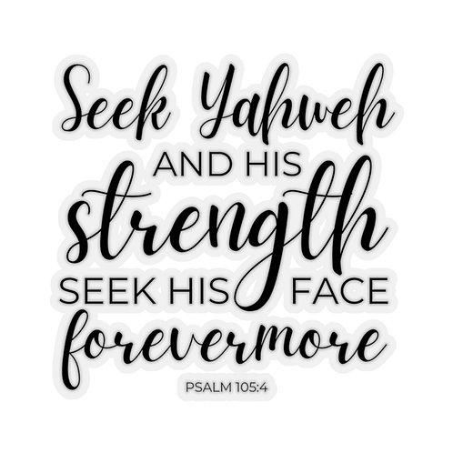 Seek Yahweh Sticker