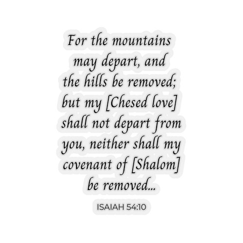 For the Mountains may depart...