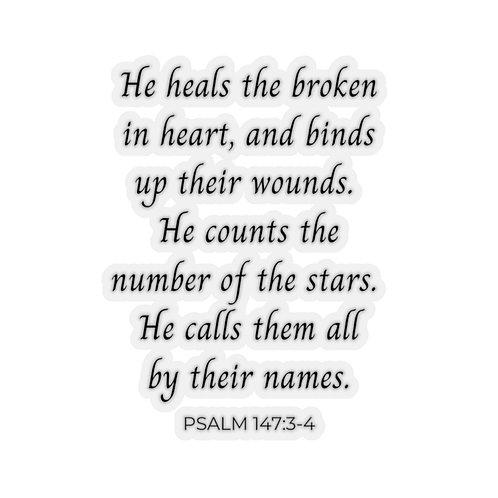 He Heals the Brokenhearted Sticker