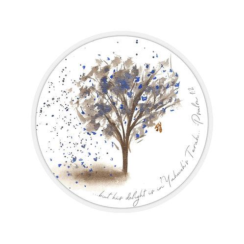 Blue Tree Sticker (Psalm 1:2)