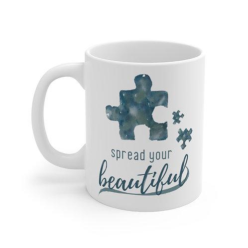 Spread Your Beautiful Autism Awareness Mug