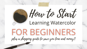 Watercolor Tips for Beginners