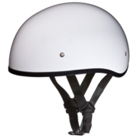 Daytona DOT 1/2 Skull Cap - Hi Gloss White
