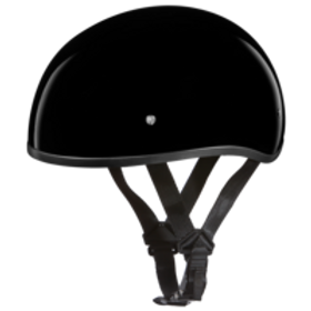 Daytona DOT 1/2 Skull Cap - Hi Gloss Black