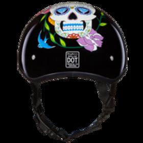 Daytona DOT 1/2 Skull Cap - Daimond Skull