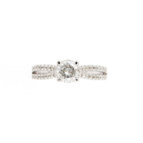 0.94 ctw Diamond Engagement Ring Front