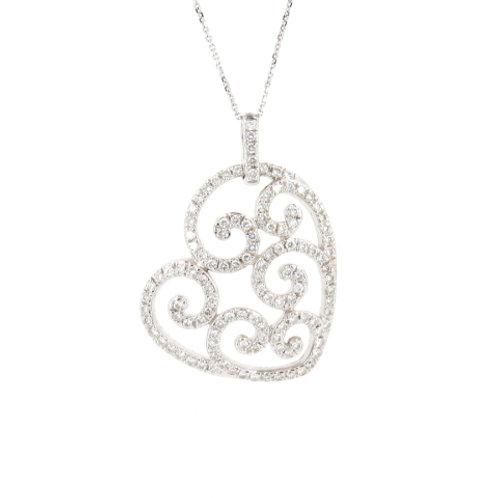 1.10ctw Diamonds Family Heart Design Front