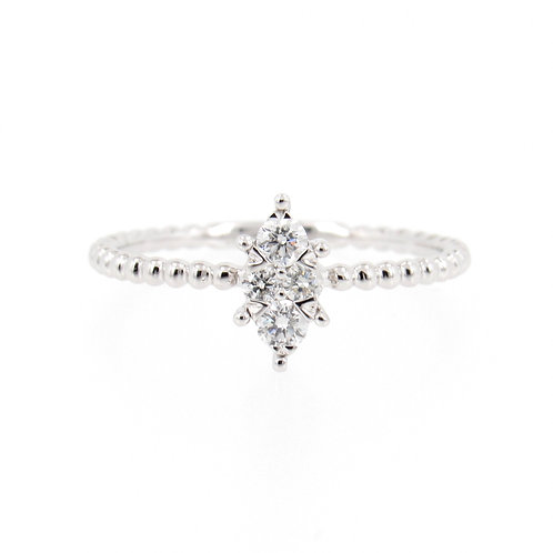 0.20 ctw Diamonds Marquise Shape Cluster Ring Front