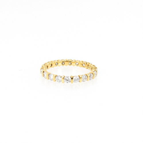 1.33ctw Round Diamonds Eternity Ring Turned