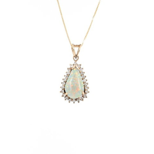 Opal & Diamonds Gold Pendant