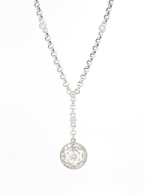 1.04ctw Diamonds Necklace Front