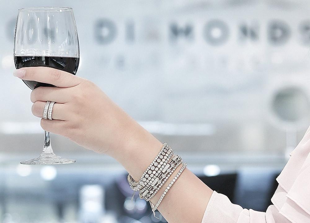 Diamond tennis bracelets, Diamond line bracelet