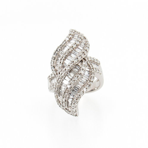 6.50ctw Diamonds Eternal Flame Design Ring Front