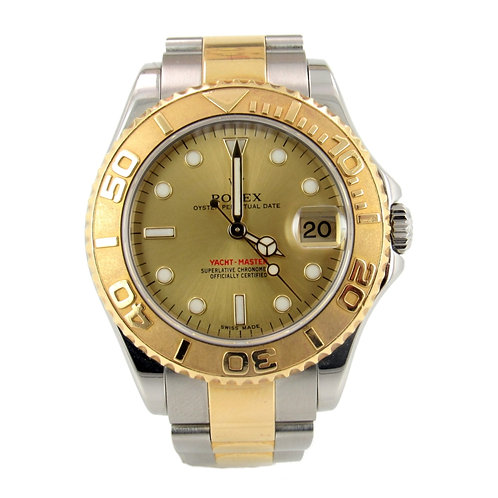 Rolex Yacht-Master Mid-Size Ladies Watch with Gold Dial