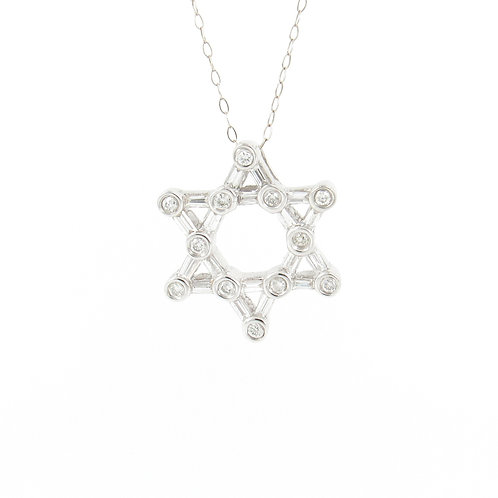 0.33ctw Diamonds Star of David Front
