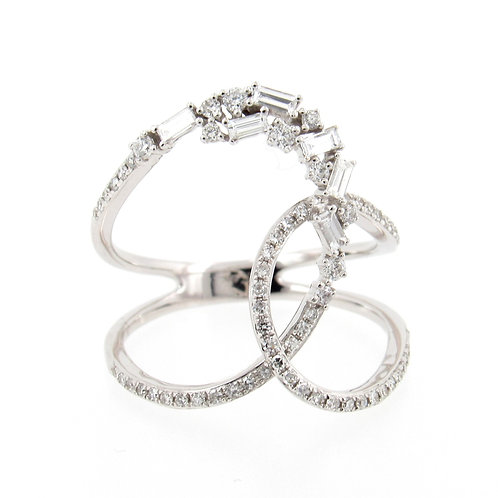 0.48 ctw Diamond Mix Loop Ring Front
