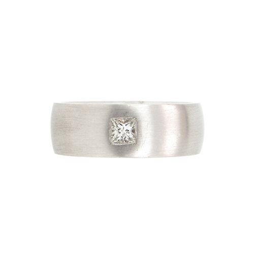 0.30ctw Princess Cut Solitaire Platinum Men Ring