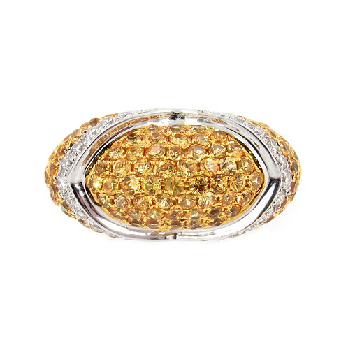 2.21 ctw Sapphire and Diamond Ring Front