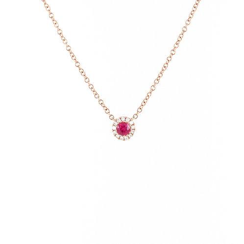 0.18ctw Ruby & Diamonds Pendant