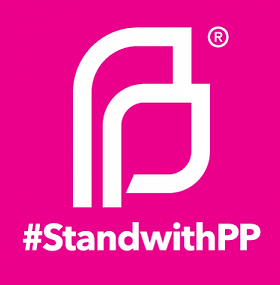 Planed Parenthood logo, #Standwith PP