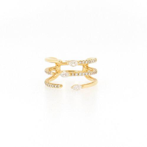 0.49ctw Diamonds Fashion Ring Front