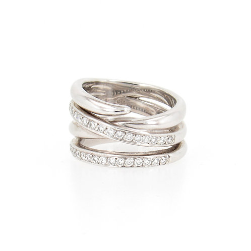 0.50ctw Diamonds Multiple Loops Ring Front