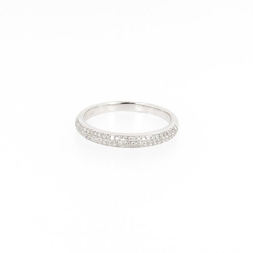 0.30ctw Round Diamonds Pave Ring Turned