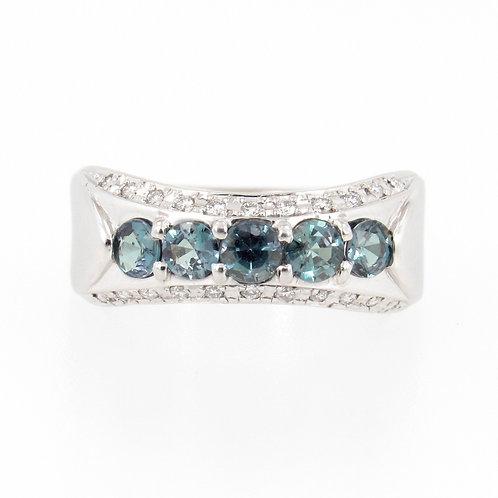 0.84ctw Alexandrite & Diamonds Ring front