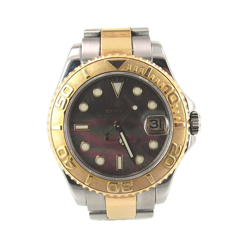 Rolex Yacht Master Ladies Mid Size Two Tone Watch
