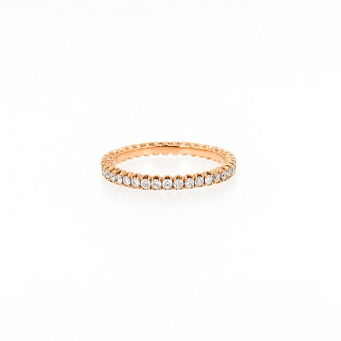 0.55ctw Round Diamonds Eternity Ring Turned